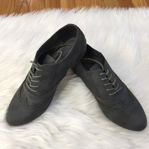 Call It Spring Gray Lace Up Oxfords